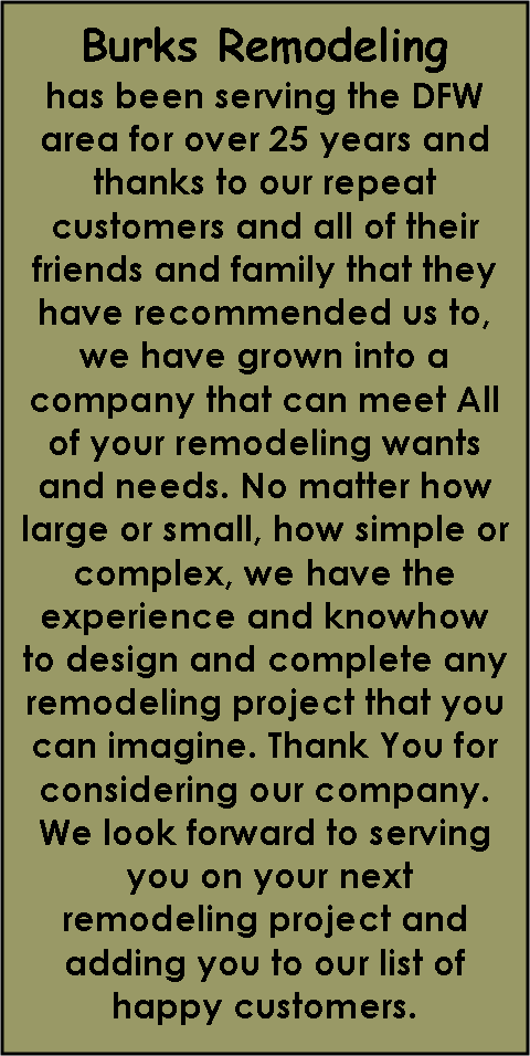 Text Box: Burks Remodeling